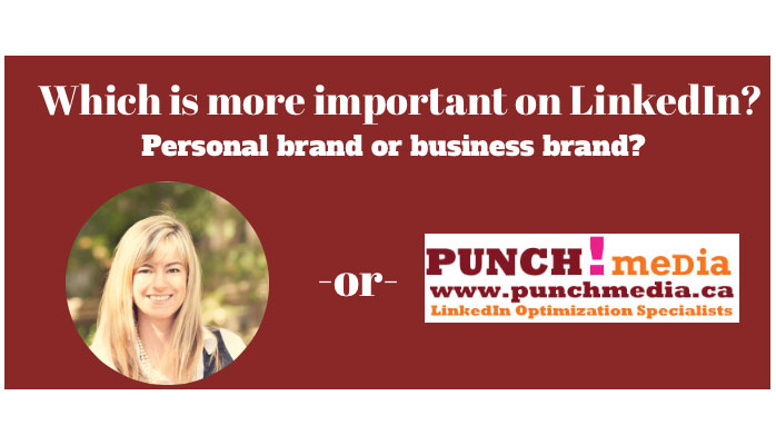 Personal brand or business brand?