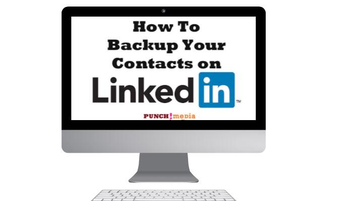 Backup data LinkedIn