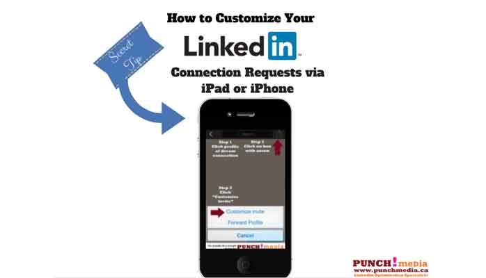 Customize LinkedIn invites for iPhone iPad O/S