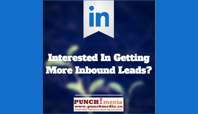 Inbound leads using LinkedIn