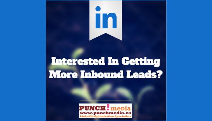 Inbound leads using LinkedIn