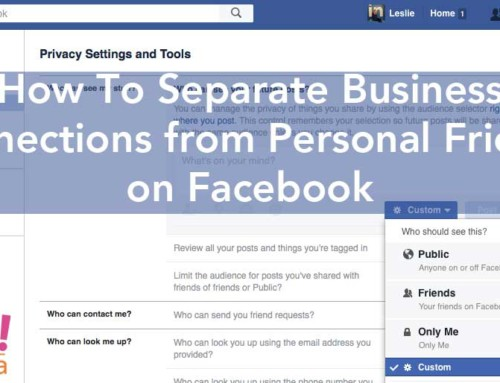 How to separate your professional friends from your personal friends on Facebook.