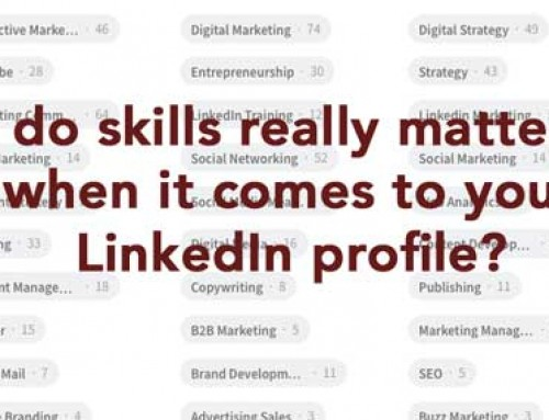 How much does the SKILLS section matter on LinkedIn?