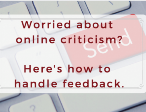 How to handle online criticism and feedback.