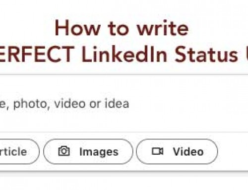 How to write a PERFECT LinkedIn status update
